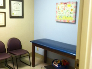 Charlotte pediatric cardiology exam room