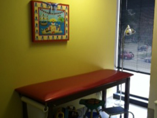 Charlotte pediatric clinic exam room